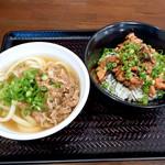 香川製麺所 - 肉うどんとかしわバター丼ミニ