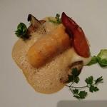 タテル ヨシノ ビズ  - 前菜 オマール海老のブーダン