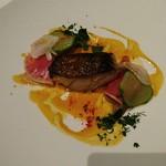 タテル ヨシノ ビズ  - 魚料理 タラのロースト ブイヤベースソース