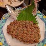 旬魚菜 しら川 - メアジなめろう ねっとりとして美味しかった!