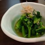 旬魚菜 しら川 - 菜の花辛子和え