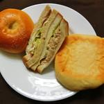 パン工房 麦の里 - 料理写真:あんぱん・三角サンド・イタリアンサンドパニーニ