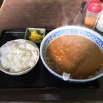 甘太郎商店 - カレーラーメン ライス付き