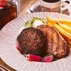岩手県産牛と白金豚のハンバーグ グレイビーソース×イベリコ豚ハーブロースト 産直木の子クリームソース