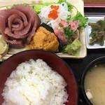 味処 まほろば - さしみ定食・1980円