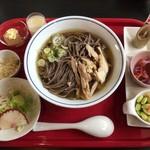 食彩遊膳 まる梅 - 肉そばセット ¥750