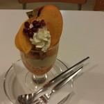 フルーツパーラーフクナガ - 季節のおすすめ 柿パフェ