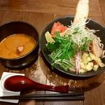 つけめん・らーめん 海老鶏麺蔵 - 甘海老つけ麺です♪