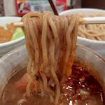 麺処 井の庄 - 【限定】濃厚辛煮干しつけめん・中盛(850円)