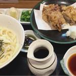 讃岐麺房 すずめ - ぶつかけ鳥天1050円