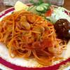 ウインズ - 料理写真:ナポリタンとミニハンバーグランチ860円ドリンク付