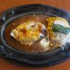 ブロンコ - 料理写真:「チーズハンバーグセット」(150g、900円)