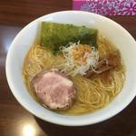 麺や真登 - 2016/10/29 薫る塩らーめん 500円