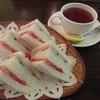 ブルートレイン - 料理写真:サンドウィッチと紅茶