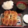 ホワイト餃子 - 料理写真:焼餃子セット700円+ご飯大盛50円