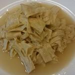 四川料理 巴蜀 - 前菜 湯葉 これ以外にも数種類の前菜が提供されました