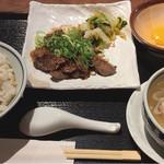 福島にし屋 - タレ漬け牛タン焼き定食  1300円