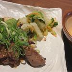 福島にし屋 - タレ漬け牛タン焼き定食