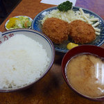 とんかつ吉乃家 - コロッケ定食(700円)