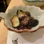 つきじ天辰 - 小鉢(味噌ナス)