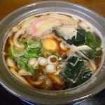どんどん庵 - 料理写真:煮込みうどん(みそ味)♡