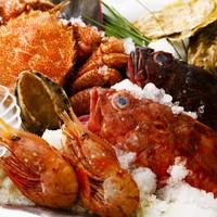 築地市場や日本各地の漁港から仕入れる、旬の鮮度抜群の魚介類!