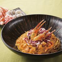 紅ずわい蟹と海老の濃厚トマトクリームソース