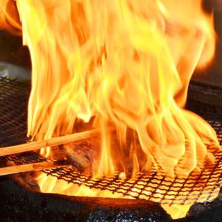 迫力満点!当店イチオシメニュー「火柱焼き」