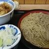 ねぎどん - 料理写真:もりそば・ミニ丼ごはん・かき揚げ
