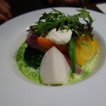 Brasserie 雪乃下 - 鎌倉野菜の庭園風バジルスープ仕立て