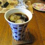 たかさき - 此処に来るまで既にこの日10以上の温泉に入って喉が渇いてたのでアイスコーヒーをいただきました。
