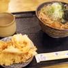 小沢 そば店 - 料理写真:2017年1月 釜揚げそば(500円)天皿(300円)