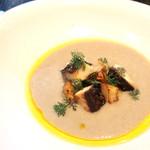 61408806 - 菊芋のスープ                       もの凄サバ、小松菜