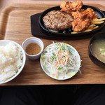 ファイヤーバーグ - 札幌ザンギ&ハンバーグセット