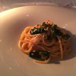 61442464 - パスタ2 タラバ蟹のスパゲッティー二 縮みほうれん草とトマトクリームソース
