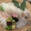 おらんく家 - 料理写真:泳ぎ烏賊姿造り