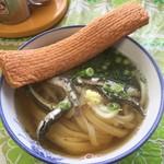 宮川製麺所 - エビ天(赤天)を乗せて・・・