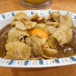 バーグ - スタミナカレー・生卵