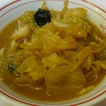 蒙古タンメン中本 - 蒙古丼・半ラーメンセットで味噌タンメン