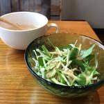 お好み焼き えなみ - ベビーリーフと水菜のサラダ