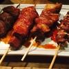 やまちゃん - 料理写真:左から、タン、レバー、カシラアブラ、軟骨 どれも100円!