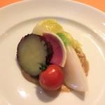 61523160 - バーニャカウダ風温野菜(冷たい)