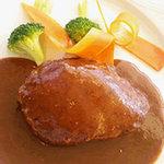 マルシェ - 料理写真:平田牧場産の三元豚のハンバーグ
