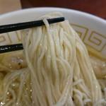 中村麺三郎商店 - でっかい麺ダマ。あってはいけないやーつ!!