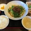 藤椒 - 料理写真:汁なし坦々麺の大盛りと唐揚げセット