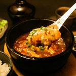 銀座 竹の庵 - ランチメニュー!石焼き味噌麻婆豆腐 海鮮か肉かを選べます!