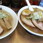 麺屋 武双 - 料理写真:特製武双ら~麺 & こってり鶏塩ら~麺