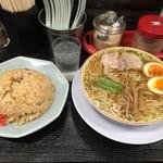 みずさわ屋 - 炒飯+味玉中華そば