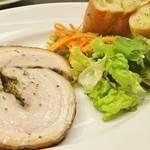 Y's Diner - ポークのクルクル香草焼き(バゲット付き)