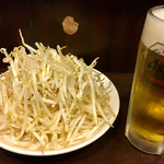 いきなり俺のジンギスカン - 食べ放題の もやし ♪ ビールと おかわり